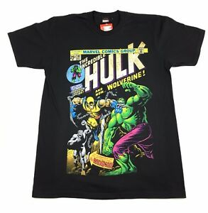 The Hulk Hulk Vs Wolverine T Shirt Official Adult Mens Black New M Ebay