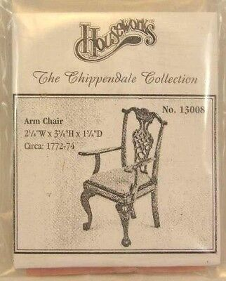 Kit Arm Chair Chippendale dollhouse furniture Housework 13008 unfinished wood