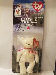 0d2160e7276 Maple The Bear-1996 McDonalds Ty Beanie Baby with Rare Errors 1993 ...