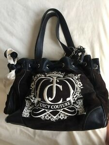 Image Is Loading Used Juicy Couture Tote Handbag Purse Shoulder Grey