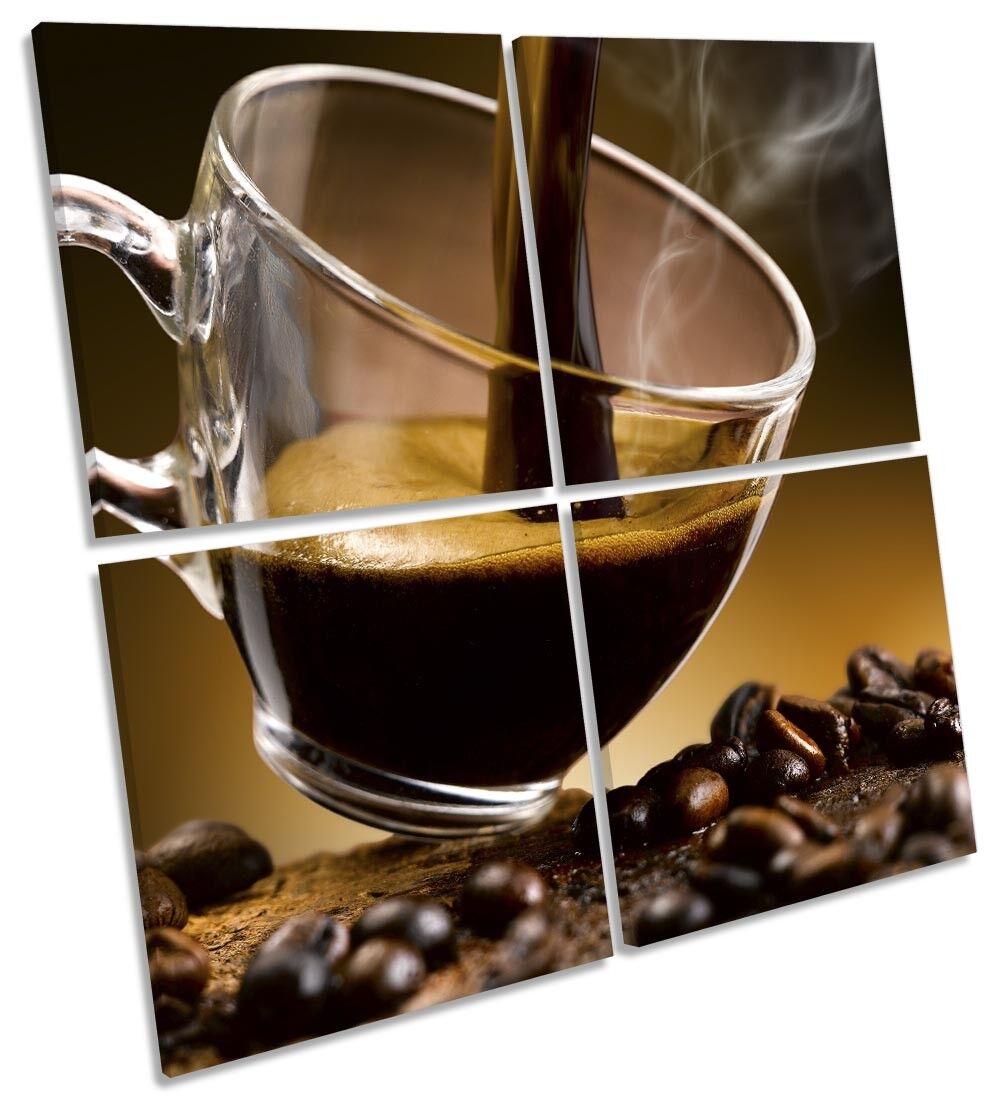 Caffè Caffè Caffè Cappuccino Cucina foto art. a muro Multi quadrato 663f62