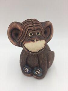 Artesania Rinconada CHIMPANZEE #45 monkey pottery ceramic figurine clay Uruguay