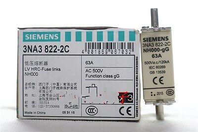 1pcs New Siemens 3NA3822-2C NH000 63A