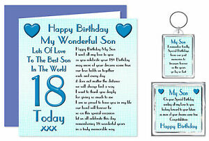 18th-Son-Happy-Birthday-Gift-Set-Card-Keyring-Magnet-18-Today-Lots-Of-Love