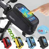 Cycling Bike Bicycle Touch Screen Mobile Phone Package Front Tube Bag Gps Bag