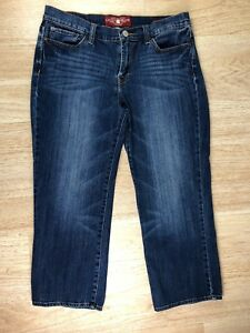 Lucky-Brand-Womens-Size-10-Medium-Wash-Blue-Stretch-Sweet-039-N-Crop-Mid-Rise-Jeans