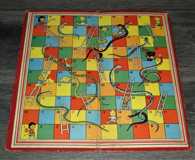 RARE HARLESDEN SERIES SNAKES & LADDERS BOARD GAME WITH DRESSED ANIMALS  c1930's | eBay