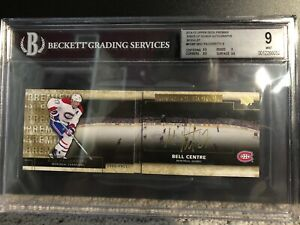 2014-15-UD-Premier-Rinks-Of-Honor-GOLD-Auto-Booklet-Max-Pacioretty-BGS-9-10-Auto