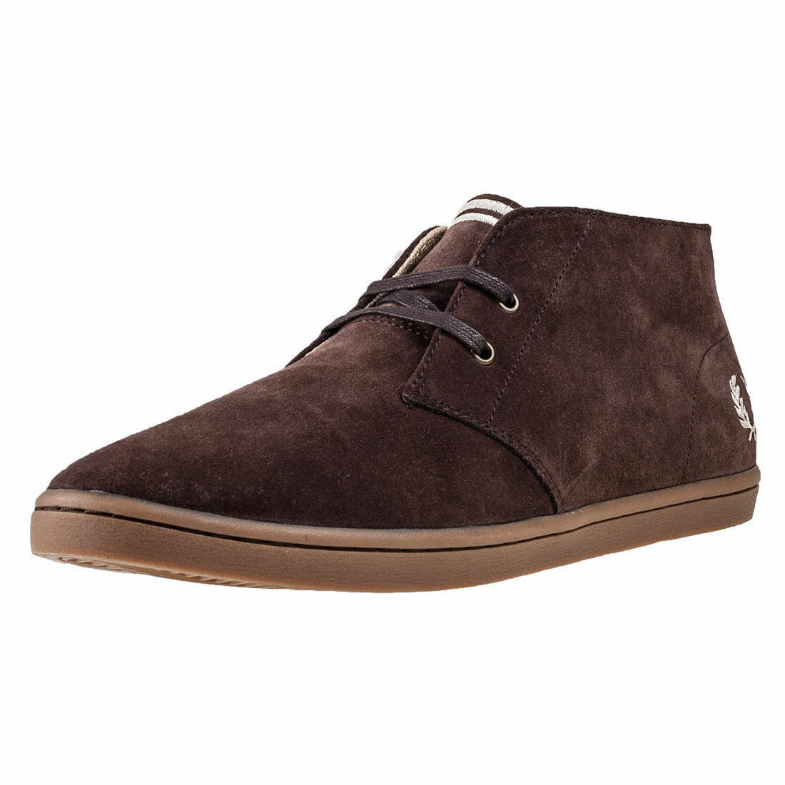 acheter pas cher 4fed9 497df Fred Perry Byron Mid Mens Chukka BOOTS Dark Chocolate Shoes 10 UK