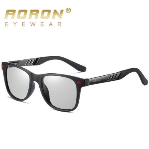 HD Polarized Photochromic Sunglasses Men Transition Lens Driving Eyewear Glasses