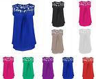 Vest Casual Lace Tank Tops Sleeveless T-Shirt Blouse Women