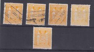 New-Zealand-1909-1d-Carmine-x-3-MH-J3128