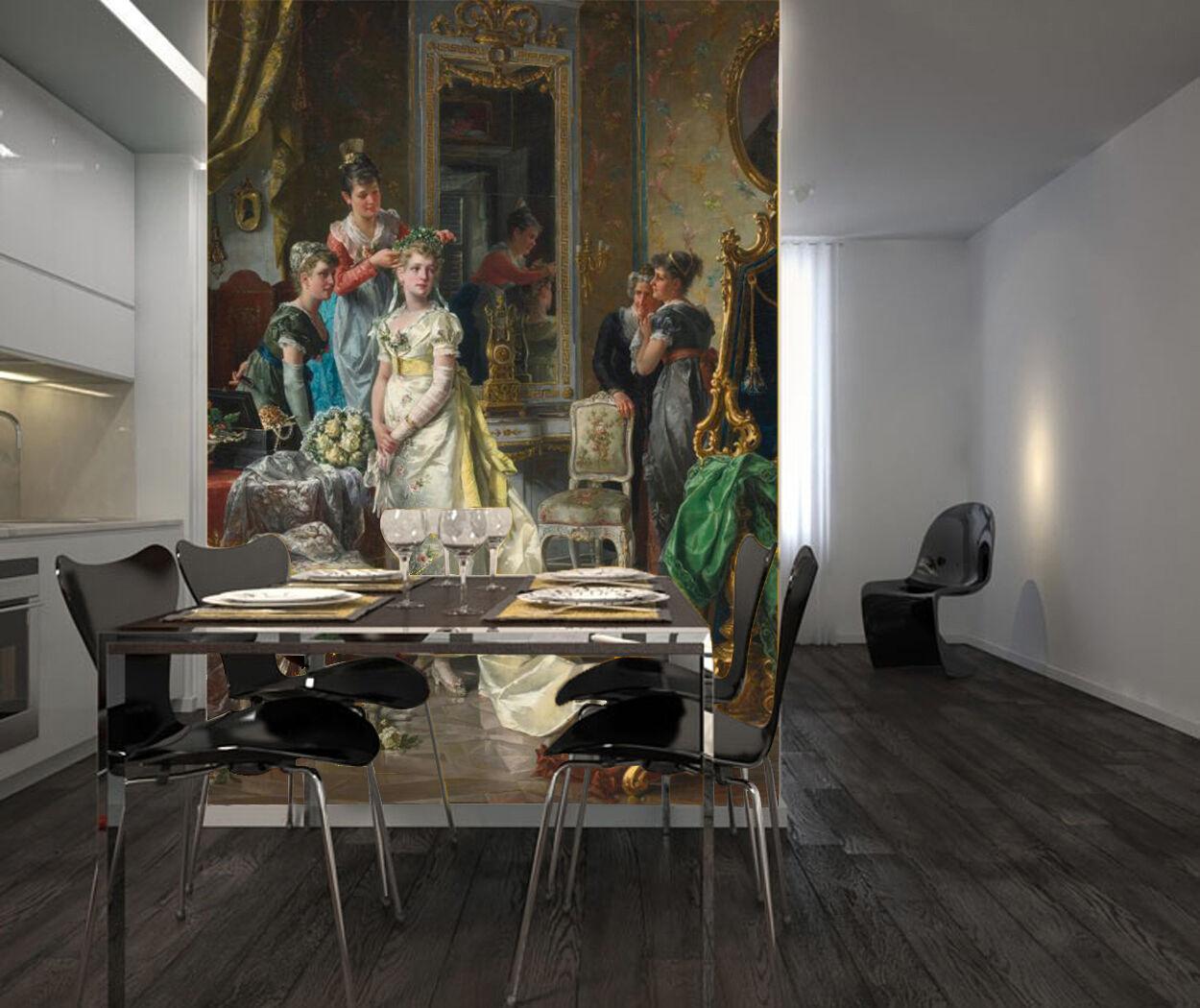 3D Partito Reale.Parete Murale Foto Carta da parati immagine sfondo muro stampa
