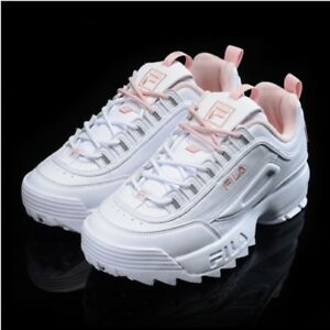 Details about New FILA Womens Disruptor II 2 FS1HTZ3074X WHITE x PINK  UNISEX SIZE TAKSE WPK