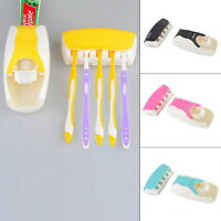 1set Automatic Toothpaste Squeezing Dispenser Device & Toothbrush Holder Ket Us