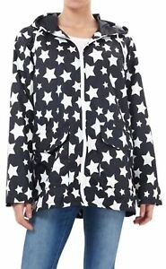 New-Ladies-Plus-Size-All-Over-Star-Print-Showerproof-Mac-Jacket-Raincoat-18-24