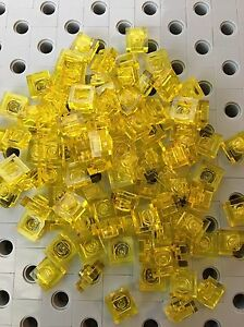 LEGO Lot of 100 Yellow 1x1 Bricks
