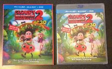 CLOUDY WITH A CHANCE OF MEATBALLS 2 3D Blu-Ray DVD 3-Disc Digital Copy SlipCover