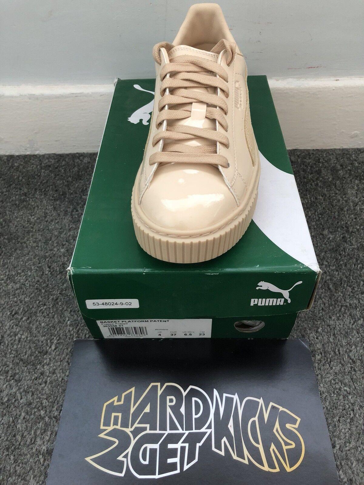 Zapatos promocionales para hombres y mujeres Puma Basket Platform Patent Frappe