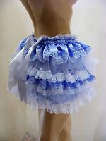 Sissy Adult Baby Blue Ruffle Allround Diaper Cover Panties Waterproof Option