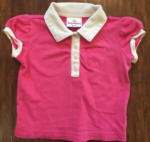 Fashion Style Hanna Andersson Girls 80 Cm 18-24m Pink & White Shirred Polo Shirt Euc Providing Amenities For The People; Making Life Easier For The Population Clothing, Shoes & Accessories Baby & Toddler Clothing