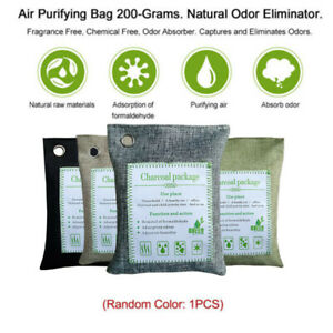 charcoal fresh bags nature bamboo mold odor bag air purifier remover active pcs non 200g freshener
