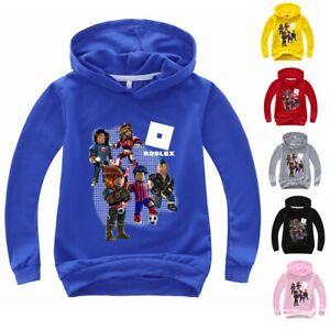 Roblox 3D Boys Girls Kids Hooded Tops Sweatshirt Hoodie Jumper Costume Age 3-11Y