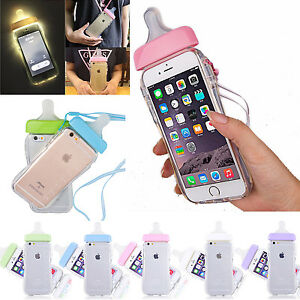 Clear-Iphone-8-Plus-Case-Soft-5-3D-Pacifier-Cute-Baby-TMOBILE-Bottle-TPU-Pink-7