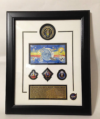 NASA Historic Space Shuttle Program Mission Frame Contains Flown Metal Limited