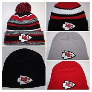 3f711715b Details about Kansas City Chiefs New Era Beanies ~Knit Hat~Classic NFL  Patch/Logo ~New