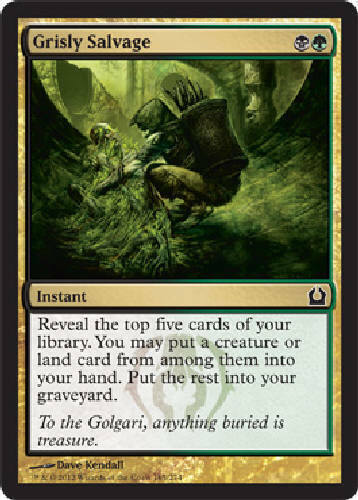 4 Grisly Salvage - M/NM - Return to Ravnica - SPARROW MAGIC mtg C 4x x4