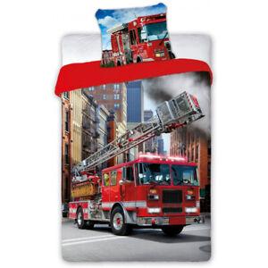 Feuerwehr auto Bettwäsche 160 × 200 cm, 70 × 80 cm Kinderbettwäsche