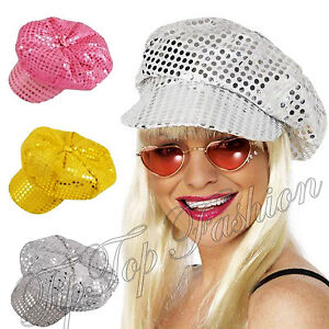 70/'S Disco sequin Hat Cap Fancy Dress Accessory Hen Party
