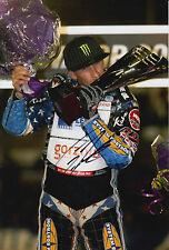 Greg Hancock Hand Signed 12x8 Photo Speedway Champion 7.
