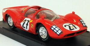 Bang-modelos-diecast-escala-1-43-7105A-Ferrari-330-coche-de-carreras-Rojo