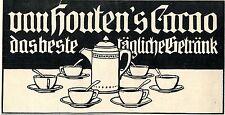 Van Houtens`s Cacao PRODUKTWERBUNG Historische Reklame von 1908