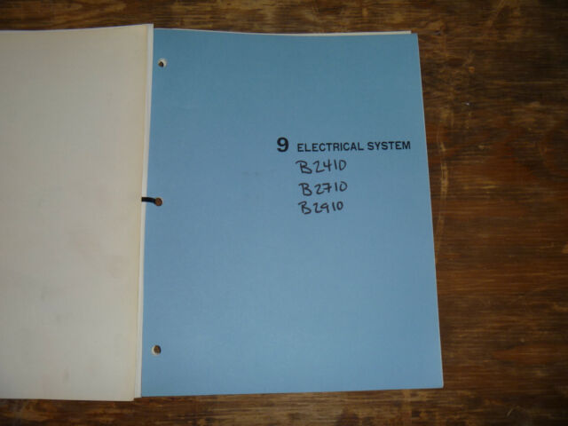 Kubota B2410 B2710 B2910 Tractor Electrical Wiring Diagram Manual