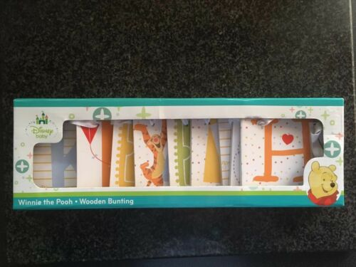 Mothercare Disney Winnie The Pooh Wooden Bunting 140 CM BNWT