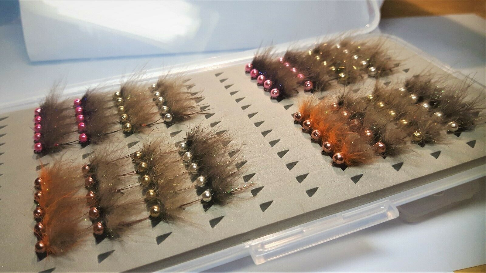 40 40 #16 tungsten Set 80 pieces grayling  nymphs,hook Hanak 450 BL # 14