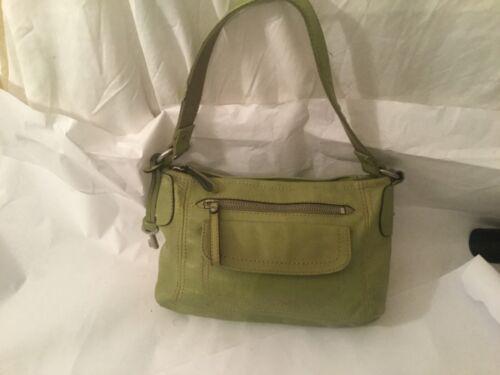 Fossil Leather Lime Green Shoulder Bag