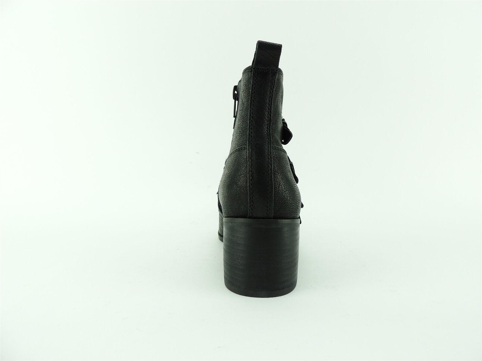 Lucky Brand Para Mujer botas Cuero De Cuero botas Negro ubicado Cera loreniah Talla 8.5 M 921978