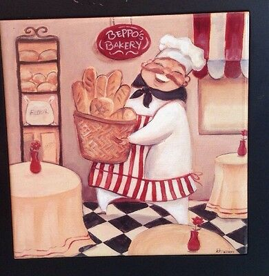 That's Italian Bakery Decorative Ceramic Framed Decor Tile / Wall Art Plaque