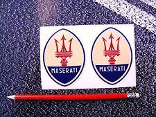 MASERATI Oval Style Stickers 85mm F1 Lemans Mille Miglia Ferrari Motor racing