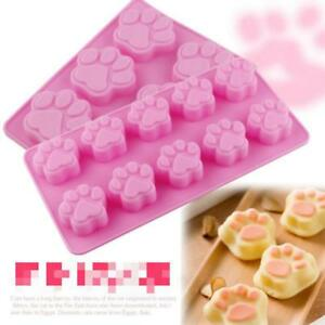 Silicone-Cat-039-s-Paw-Print-Mould-Chocolate-Cookie-Candy-Soap-Resin-Wax-Mold-Q