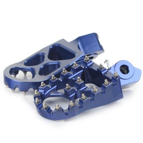 Blue Billet CNC Wide Fat Footpegs Foot Pegs Rests Suzuki RMZ250 RMZ450 2010-2016