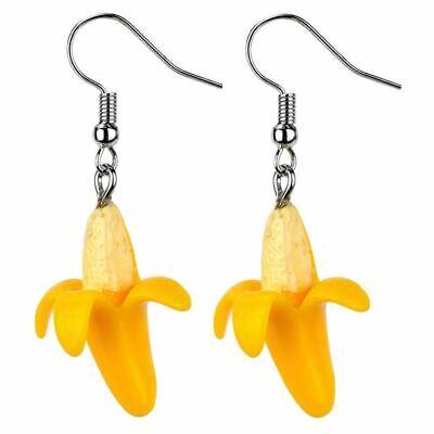 Funky Banana Replica Drop Earrings by Joe Cool Fruit Jewellery
