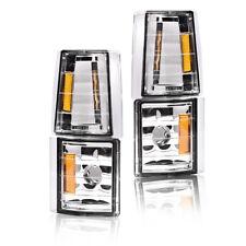 Corner Signal Side Marker Lamps Fit For Chevy Ck C10 1500 2500 3500 Chrome 4pcs