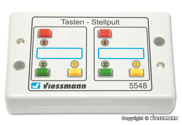 5548 VIESSMANN Push button panel feedback 3-aspects / PULSADOR (c12)
