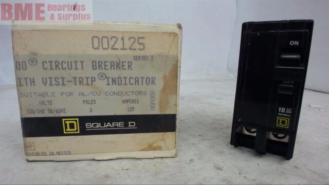 NEW 125 AMP 2 POLE 240 VOLT Circuit Breaker Square D QO2125