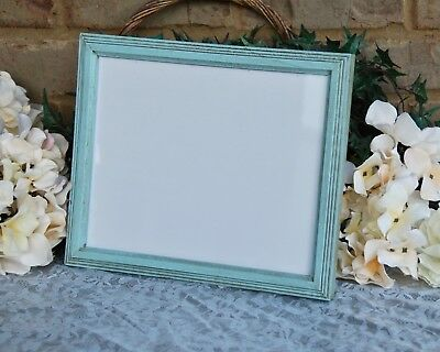 Robin/'s egg blue boho chic 11x14 wood wall hanging gallery picture frame decor